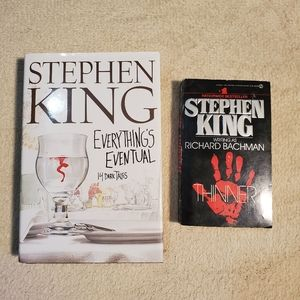 STEPHEN KING BOOKS EVERYTHING'S EVENTUAL/THINNER